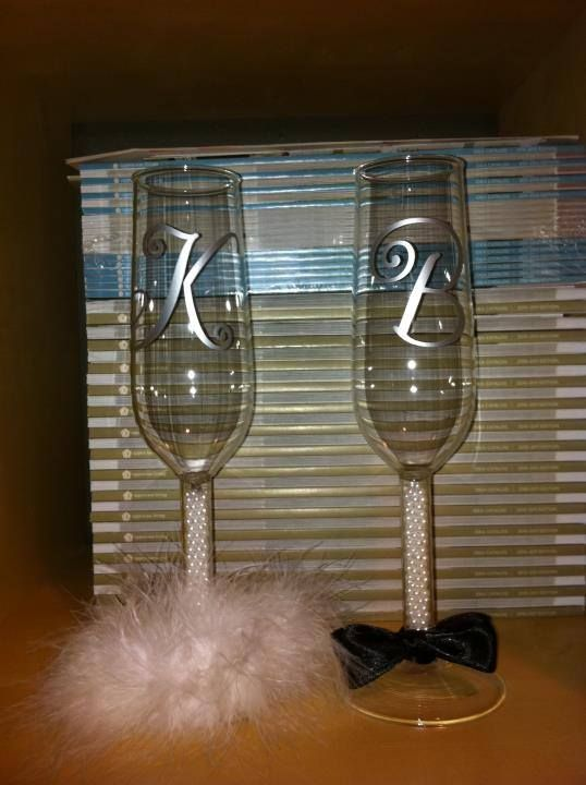 personalized wedding glasses, champagne flutes