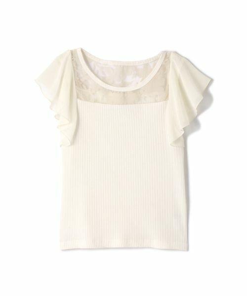 PROPORTION BODY DRESSING(プロポーションボディドレッシング)の◆フラワーテレコカットソー(Tシャツ/カットソー)|ホワイト系その他