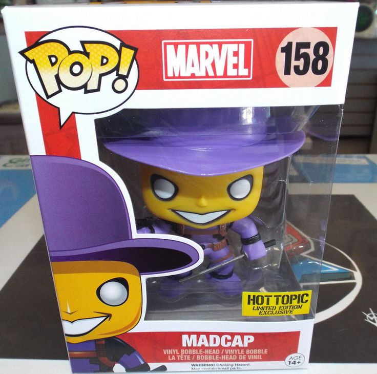 Funko POP Marvel Hot Topic Exclusive MADCAP #158 New!