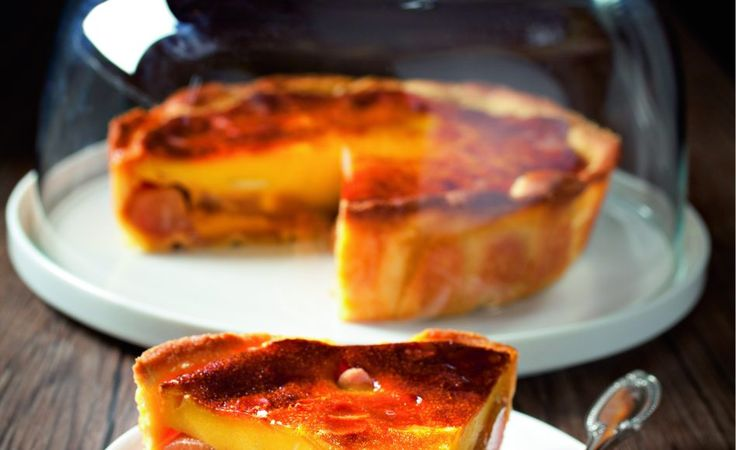 Recipe of pear clafoutis by Sophie Dudemaine and Joël Robuchon