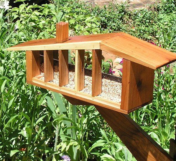 modern bird feeders | Mid Century Modern Bird Feeder and Space Age by MidCenturyWoodShop, $ ...