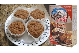Quick E 2 muffins. I added peaches to mine.