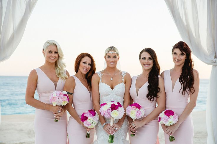Pretty in Pink from Barbie Blank's Wedding Album  Barbie's bridesmaids wore light pink dresses.