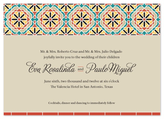 Spanish Tile Themed Invitations