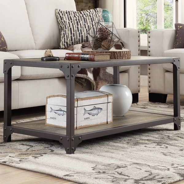 Sadie 3 Piece Industrial Rustic Occasional Accent Table Set By INSPIRE Q  Classic By INSPIRE Q