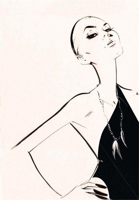 Fashion illustration - stylish fashion sketch // Nuno DaCosta