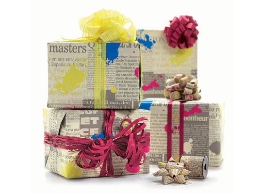 journal: ribbon and paper 100% recicled material