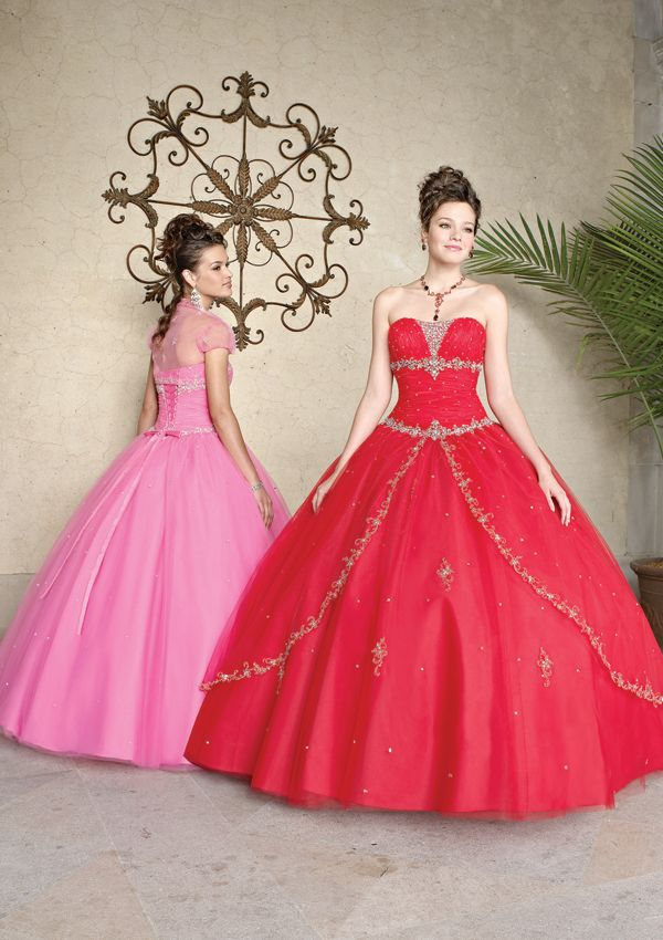 Tulle With Embroidery - Matching Bolero Jacket Bridesmaids Dresses(HM0601)