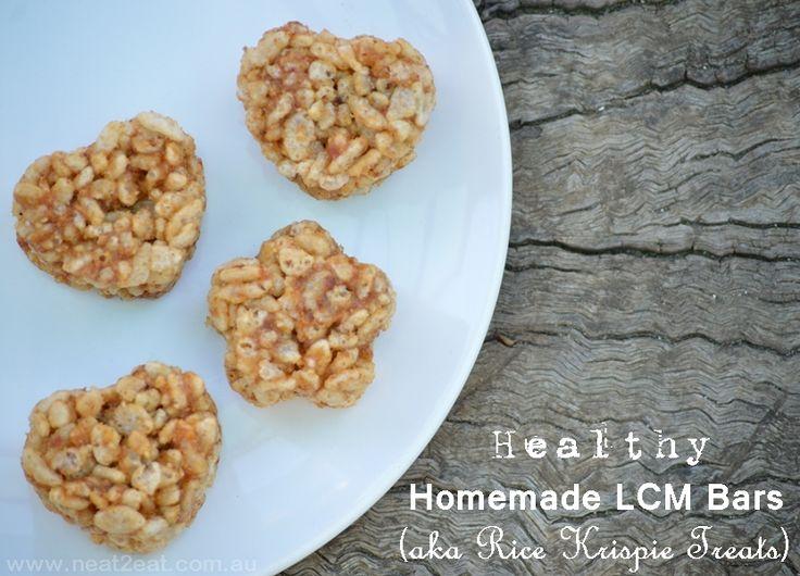 Healthy Homemade LCM Bars (aka Rice Krispie Treats) - Neat 2 Eat Blog