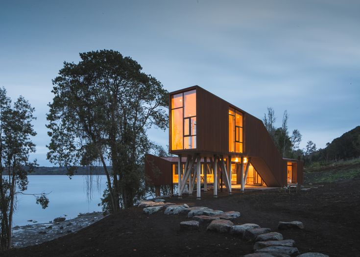 Completed in 2015 in Osorno Province, Chile. Images by Francisco Ibañez. A pavilion   The project is located in Chilean Patagonia; Region X; on the eastern bank of The Rupanco Lake. The commission consisted of designing a...