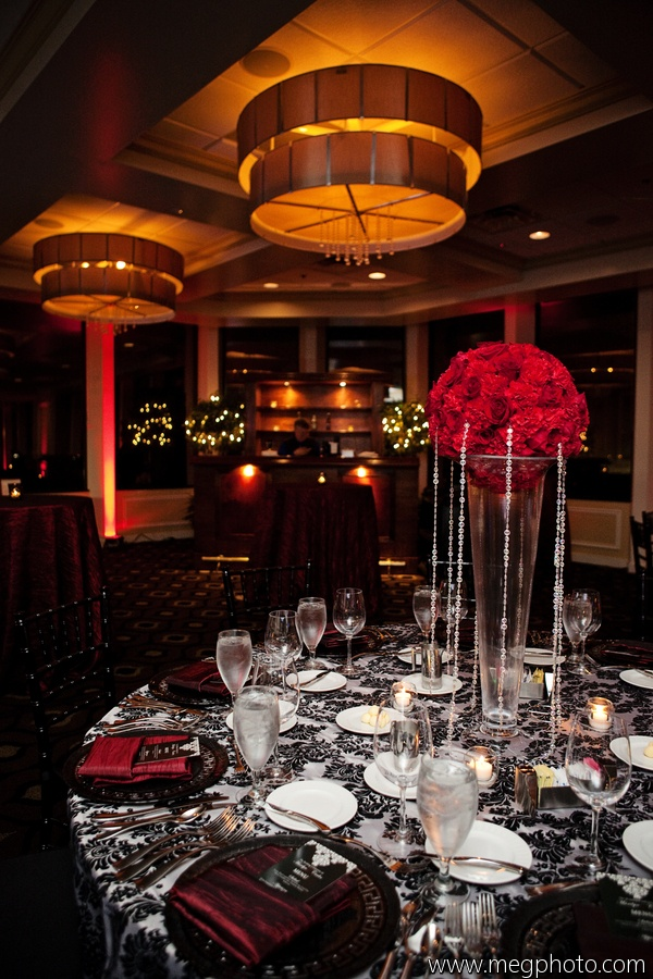 Red And Black Reception Decor