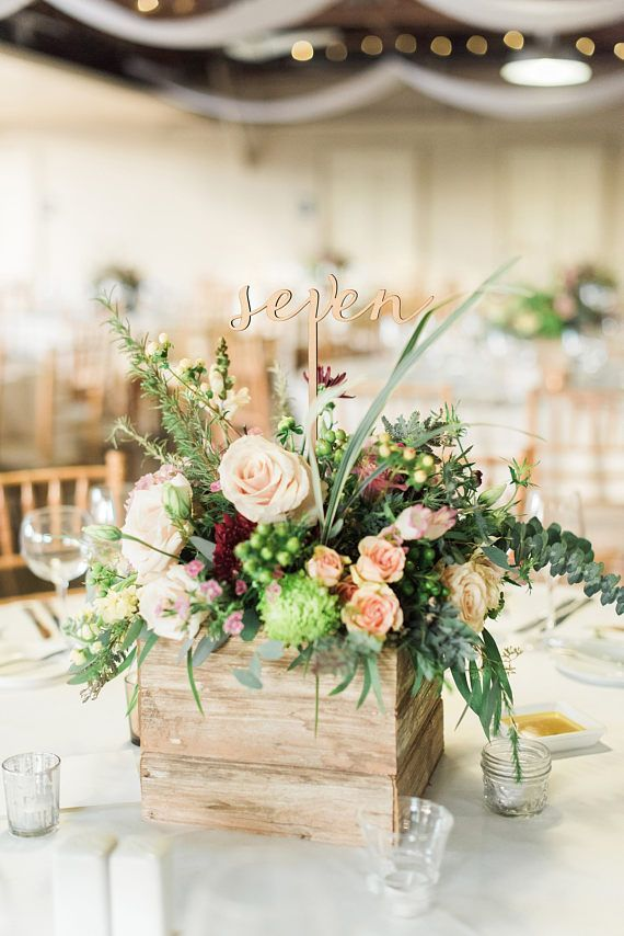 Wedding Table Numbers, Words on Sticks, Wooden Cut Extra Tall Words for Wedding Centerpiece Decor Re