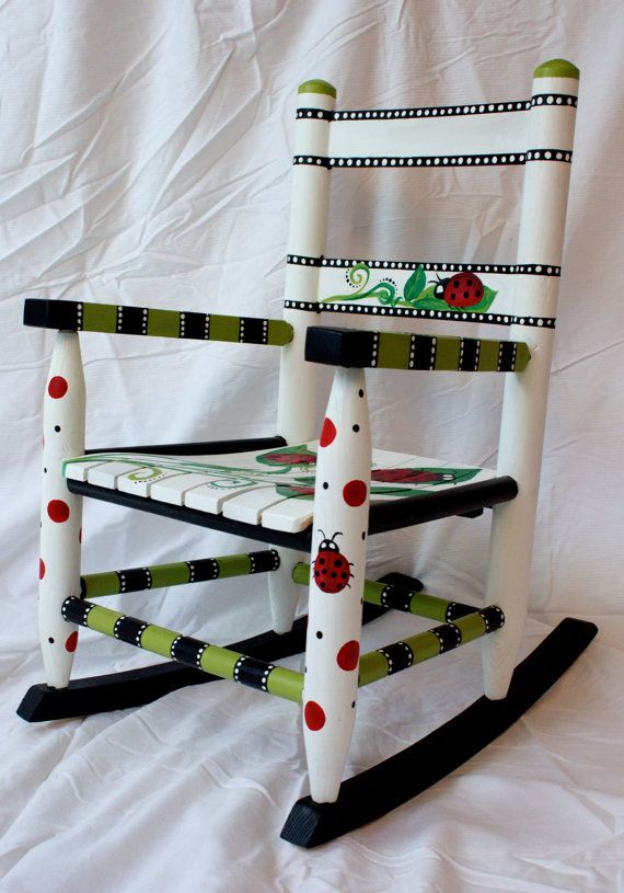 Ladybug Rocking Chair on Etsy, $150.00