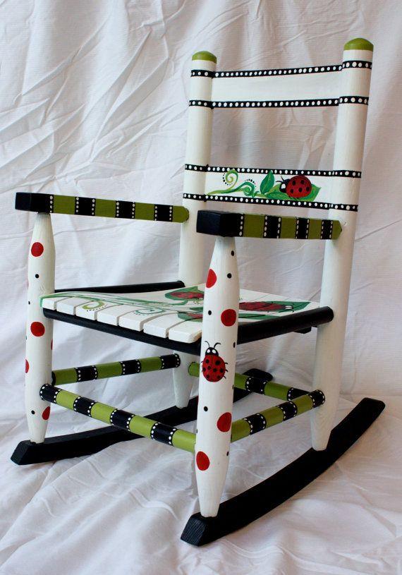 Ladybug Rocking Chair on Etsy, $150.00