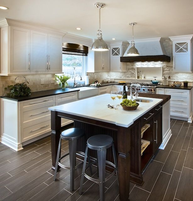 Natural Walnut Kitchen Island In Summit New Jersey: Pin By Nichole Andersen-Peschong On Kitchen Remodel
