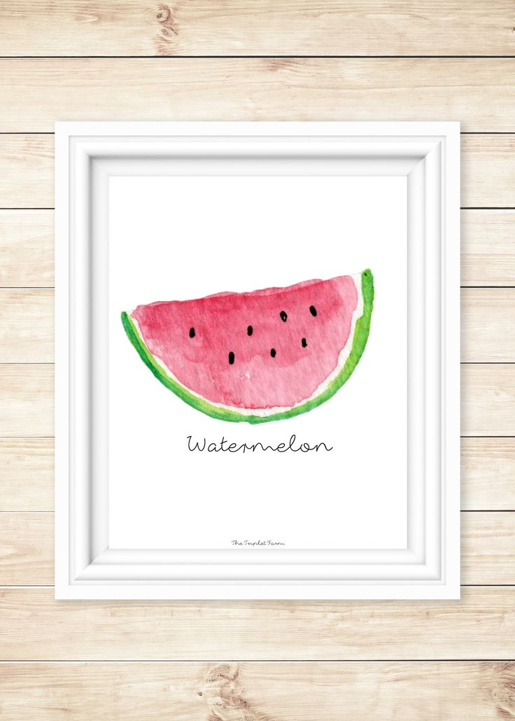 Watermelon Free Printable - The Triplet Farm
