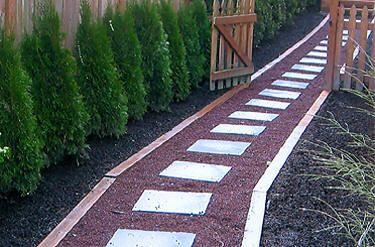 Landscape stone and pavers blue stone slabs set in lava rock path backyard ideas pinterest - Slab pathway design ideas ...