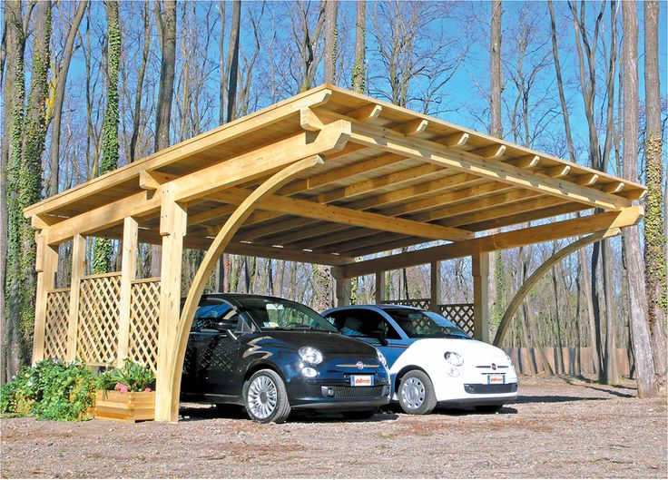 Country Wood Carports : Exterior back to nature wood car ports