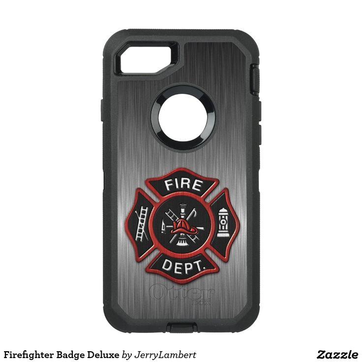 Firefighter Badge Deluxe OtterBox Defender iPhone 7 Case