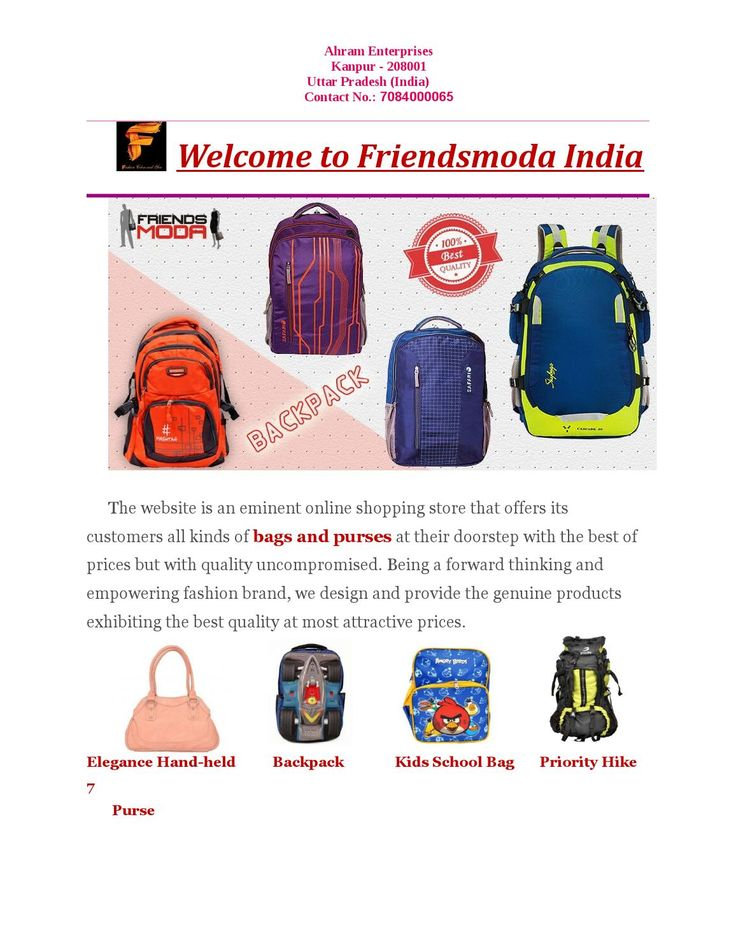 Online Shopping Travelling Bag, Backpacks, Ladies purses  Friendsmoda.com- Online shop in India for stylish and trendy travelling bags, backpacks, school bags, ladies purse and more accessories within reasonable price.