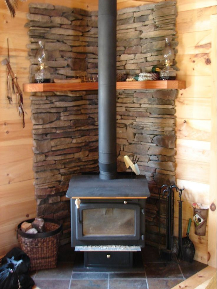 Corner fireplace idea for cabin cabin fever pinterest Living room ideas with stoves