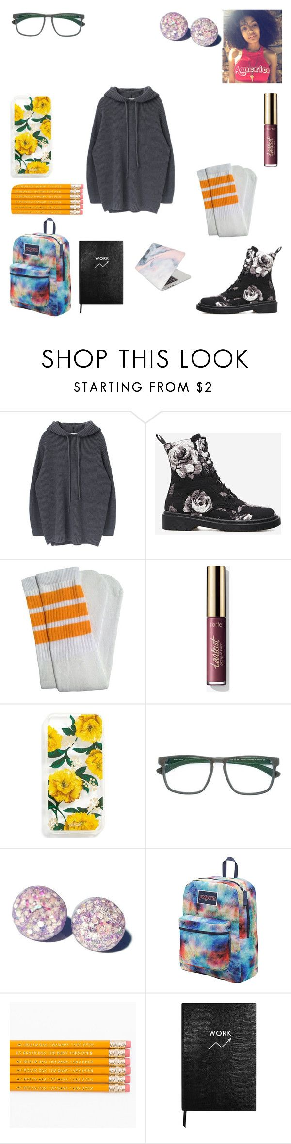 """Left my phone + bus pass home :-("" by keneko17therainbowprincess on Polyvore featuring Sonix, Mykita, JanSport, Sloane Stationery and Recover"