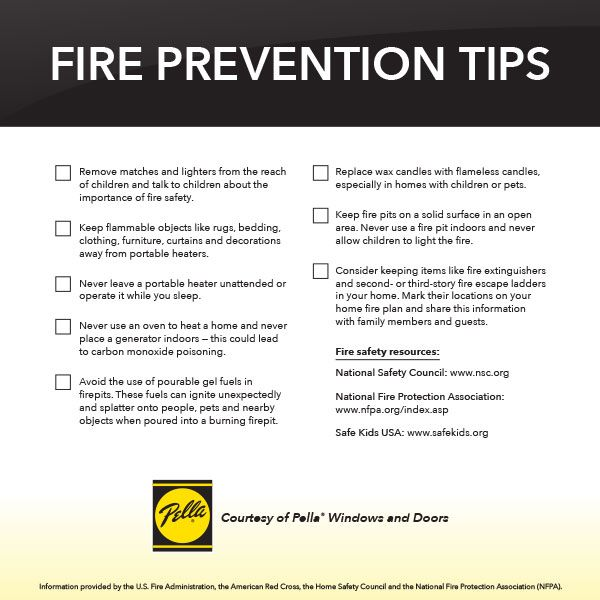 Home fire fighting tips with pictures.