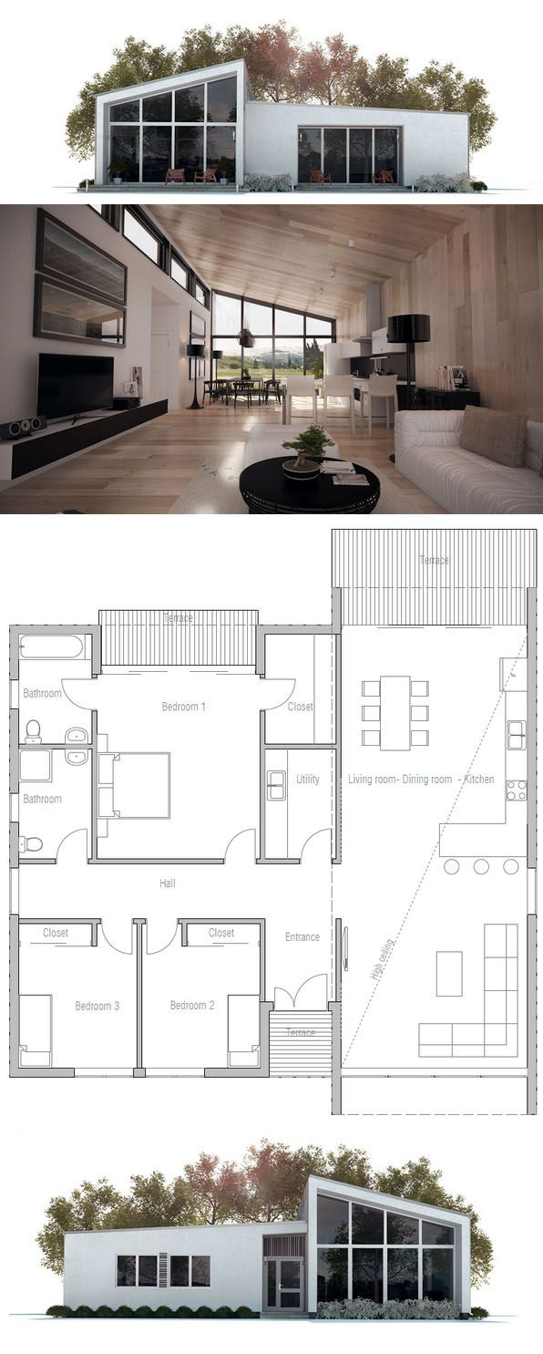 Petite maison · houses architecture interiorarchitecture modernedesign architectureconstruction architectureperfect floorplanplan loftplan