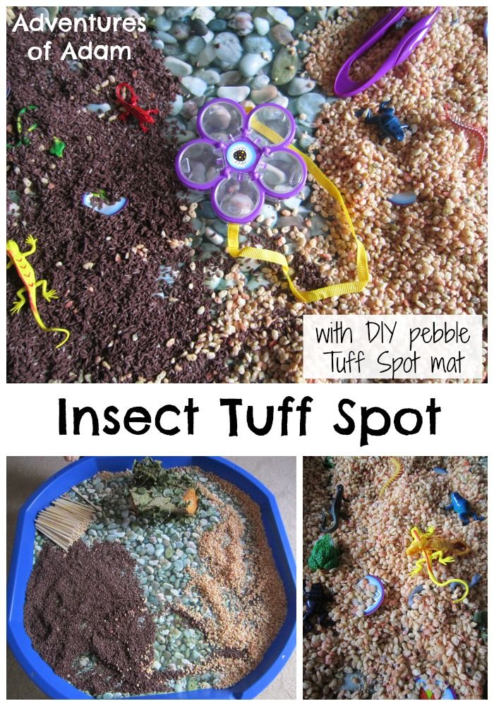 Insect Tuff Spot Insect Tuff Spot with DIY Tuff Spot Mat | http://adventuresofadam.co.uk/insect-tuff-spot/