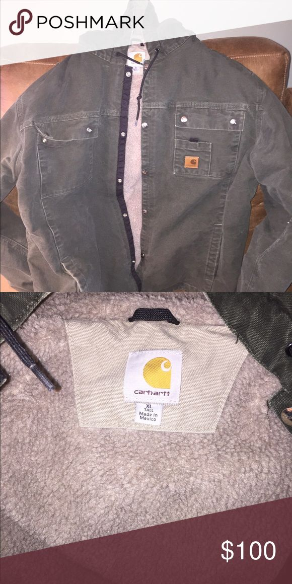 Carhartt winter jacket Very warm Carhartt winter jacket.  Sherpa lining is very warm.  Great condition barely worn. Carhartt Jackets & Coats Performance Jackets
