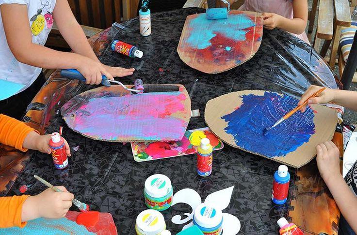 schilde basteln den rittergeburtstag mit kids