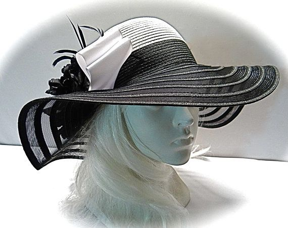 Black White Kentucky Derby Hat Women S Sun Hats Dh 115 Kentucky Derby Hat Derby Hats Kentucky Derby Fashion Hats