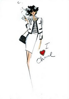 Chanel #ilustracion #sketch #boceto #fashion #moda