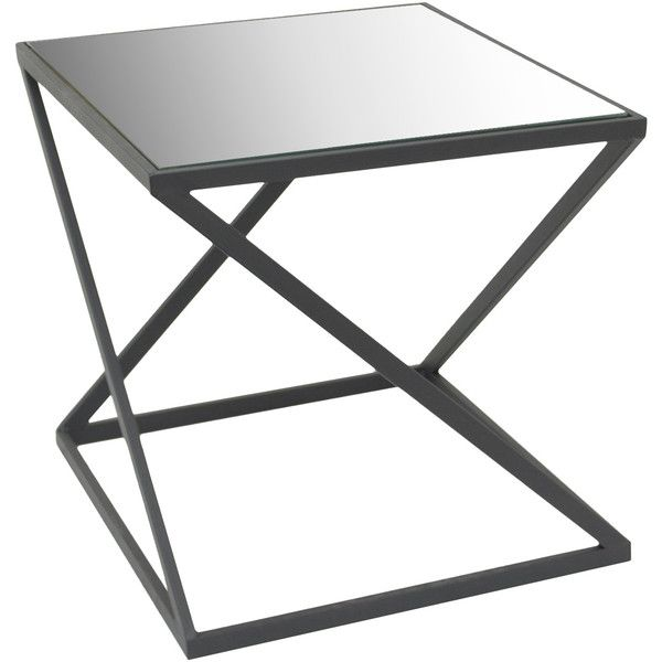 Dot & Bo Layton Accent Table (165 AUD) ❤ liked on Polyvore featuring home, furniture, tables, accent tables, square table and square accent table
