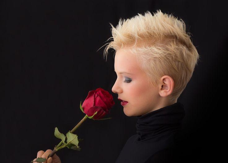 Profil, Pige, Rose, Ung Pige, Blonde, Dame, Ansigt