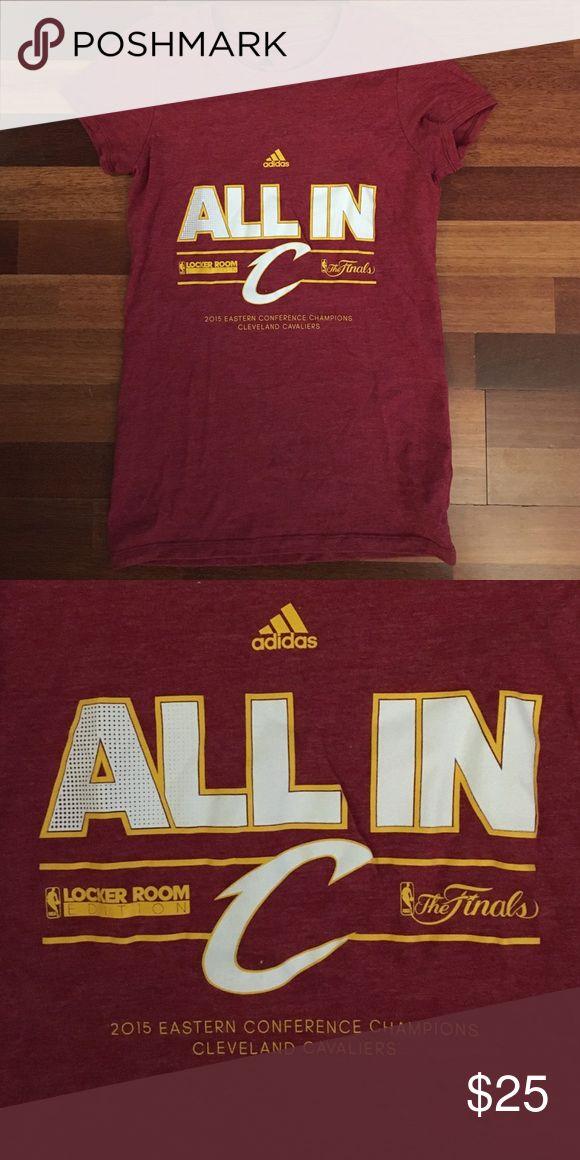 Adidas Cleveland Cavaliers Shirt Never worn Cleveland Cavaliers 2015 top Adidas Tops Muscle Tees