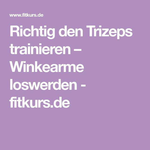 Richtig den Trizeps trainieren – Winkearme loswerden - fitkurs.de