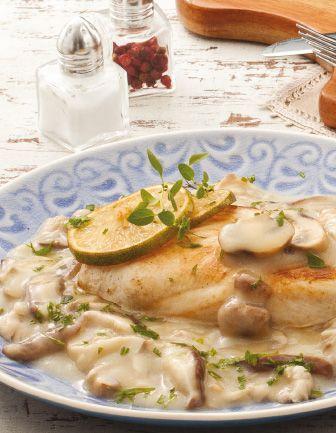 Peito de frango com cogumelos