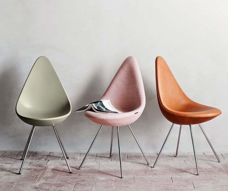 by iconic furniture designer Arne Jacobsen - it's called the Drop Chair...first introduced in 1958.