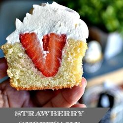 Strawberry Shortcake Cupcakes by LadyBehindTheCurtain