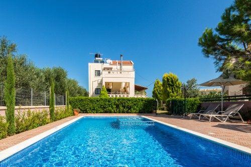 Family holiday villa with private pool in Almyrida, Crete