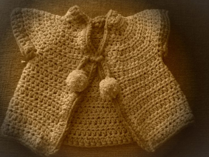 Crochet Baby Cardigan by Katartic on Etsy