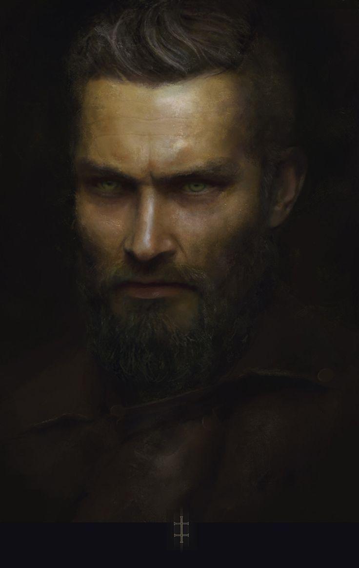 rhubarbes:  ArtStation - Man with Beard, by Eve Ventrue