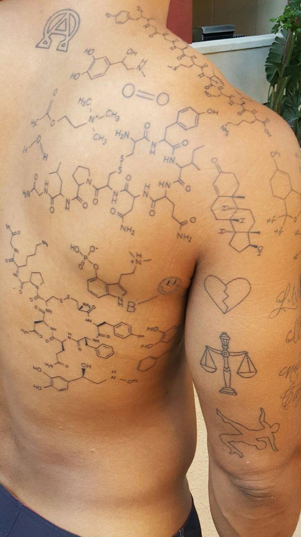 1000 Ideas About Molecule Tattoo On Pinterest Serotonin Tattoo Tattoos And Dopamine Tattoo