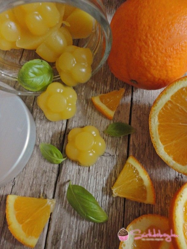 Narancsos-bazsalikomos gumicukor