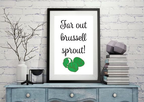 Instant Download 'Far out brussell sprout' by LittlePenguinStore