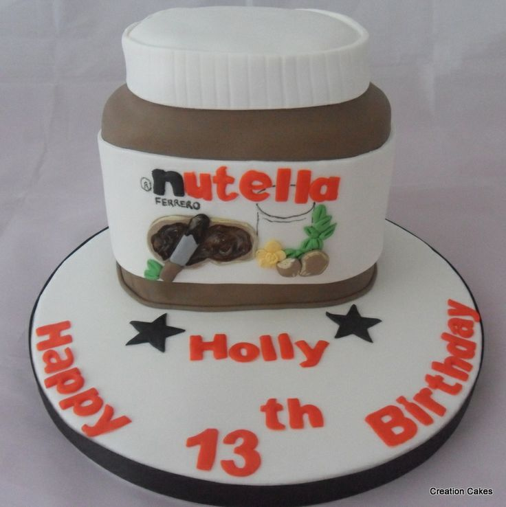 3D Nutella Jar Themed Chocolate Cake Www.creationcakes.org