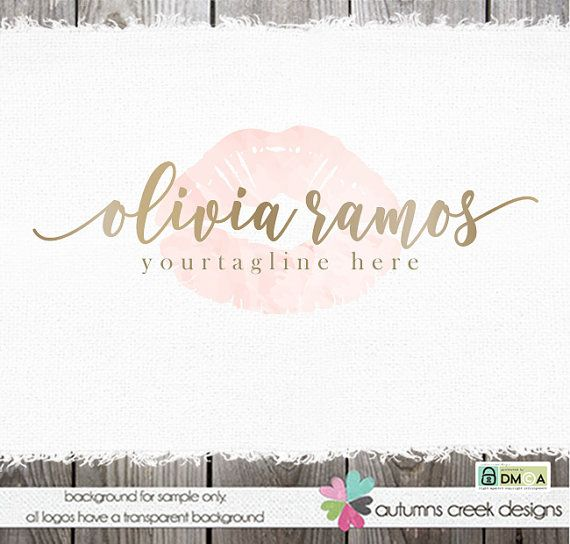© brenna, posted and copyrighted 06.16.2015 © design, wording & photos are copyright autumns creek 2015  ♡ item ♡ [olivia ramos ] - a gorgeous font for your name with beginning and ending swooshes in gold atop a hand drawn set of watercolor filled lips. i can customize colors and text to your preference. add a black and white version to your logo here: https://www.etsy.com/listing/261334302/ ♡ changes included ♡ i will gladly change the name and if you want, the colors.  ♡ files included ♡…