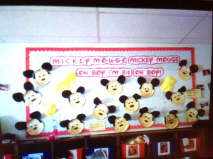 Mickey Mouse Bulletin Board Disney Themed Classroom