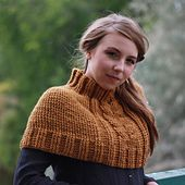 Ravelry: Cabled Crochet Poncho pattern by Kim Miller